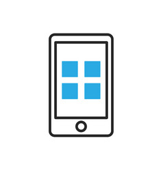 Smartphone icon mobile applications vector