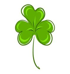 Stock green clover leaf vector