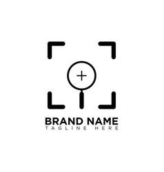 Target search logo design template vector