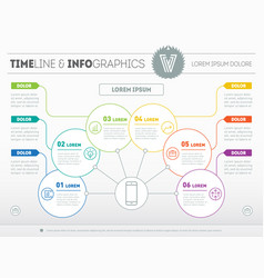 Template of a info chart diagram or presentation vector
