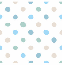 Tile pattern with pastel hand drawn dots on white vector