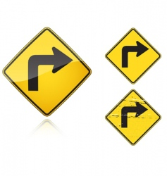 traffic road sign vector image