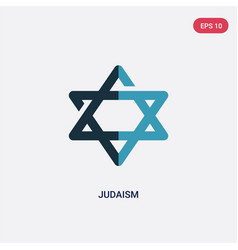 Two color judaism icon from religion concept vector