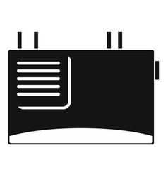 wall router icon simple style vector image