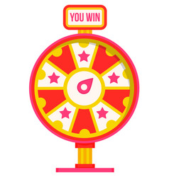 Wheel fortune casino gambling game icon vector