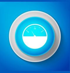 white fuel gauge icon isolated full tank vector image