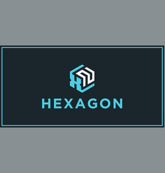 Xn hexagon logo design inspiration vector