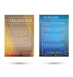 Brochures vector image vector image