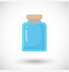 glass empty jar flat icon vector image vector image