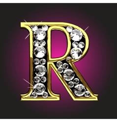 golden figure with diamonds vector image vector image