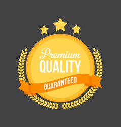 high quality flat badge sign round label vector image vector image