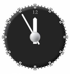 office clock techno style vector image