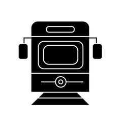 train - tram front view icon vector image