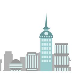 city buildings landscape skyscrapers background vector image