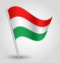 flag hungary vector image vector image