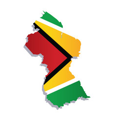 guyana flag amp map vector image vector image