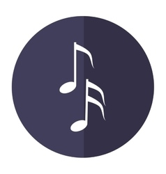 musical note melody symbol shadow vector image