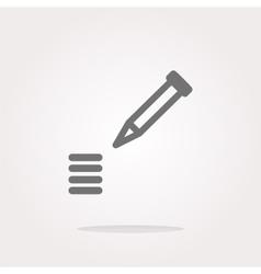 School Pencil Icon web icon on white vector image