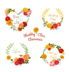 Flower Banners and Tags - for your design vector image vector image