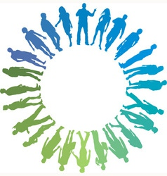 Green and blue People vector image vector image