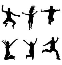jumping and flying vector image vector image