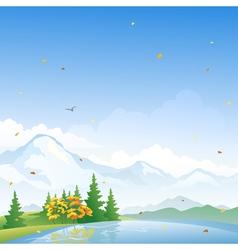 Autumn scenery vector image