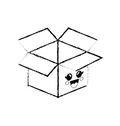 box cartoon smiley vector image
