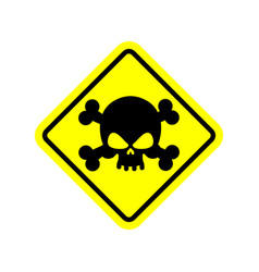 danger poison sign yellow attention toxic hazard vector image