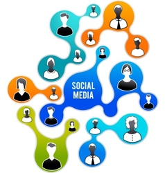 social media and network vector image vector image