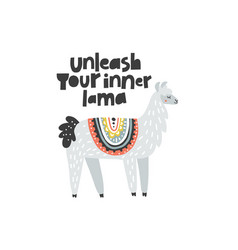 unleash your inner lama vector image