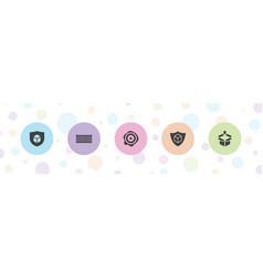 5 crate icons vector