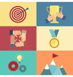 Achieving goal success concept vector