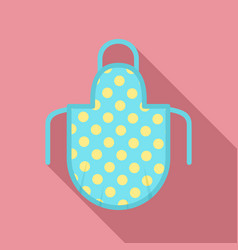 apron icon flat style vector image