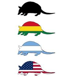 Armadillo flags vector
