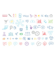 arrows drawing set for presentation the idea of vector image