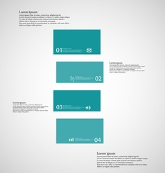 Bar template consists of four blue parts on light vector