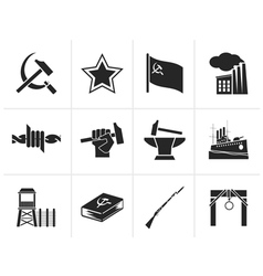 Black communism socialism and revolution icons vector