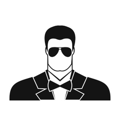 Bodyguard agent man icon vector