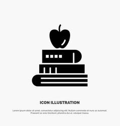 book pen food education solid black glyph icon vector image