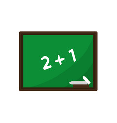 chalkboard class school chalk vector image