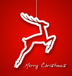 Christmas jump deer applique background vector image