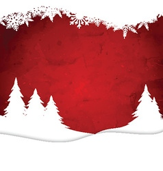 Christmas landscape on watercolour background vector image