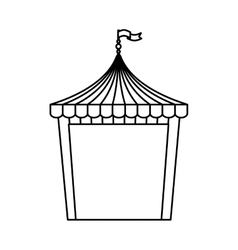 Circus tent isolated icon vector