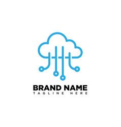 Cloud data logo design template vector
