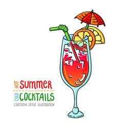 Cocktails one cartoon 9 vector