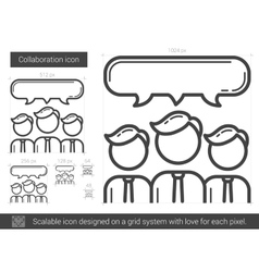 Collaboration line icon vector image