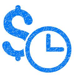 Credit grunge icon vector