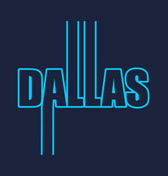 Dallas city name vector