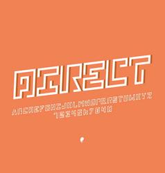 direct italic font alphabet vector image