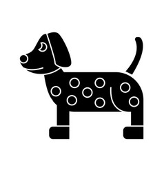 dog dalmatian icon sign o vector image